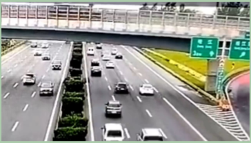 Yesterday on 16 June, 2021 a truck crashes into bridge railings in China, dumping asphalt over vehicles underneath but luckily only 2 people were injured