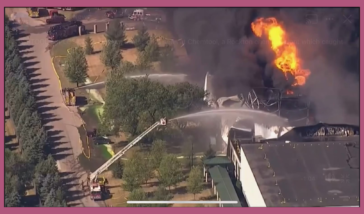 Chemical plant explodes in Rockton IL 06/14/2021