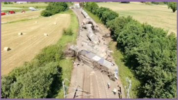 Chemical products train collision with a truck carrying a boat in France, 17/06/2020
