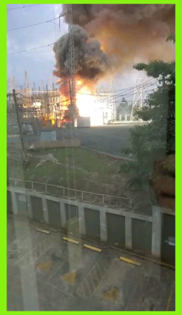 Monacillo, Puerto Rico Crid caught on fire, lights possibly out for a month or more.