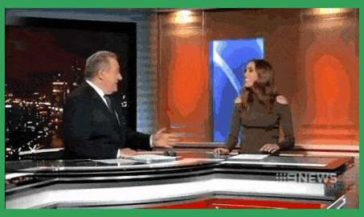 Attempt to farewell newsreader with a kiss doesn't go to plan